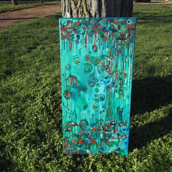 galerie peinture art triptyque semiramis