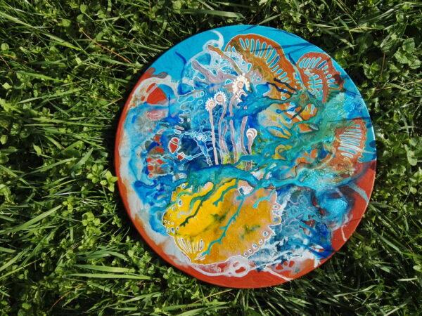 tableau acrylique abstrait