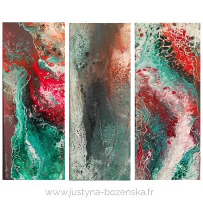 2 tableau vente peinture abstraite acrylique organic