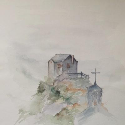 aquarelle vielle maison 1