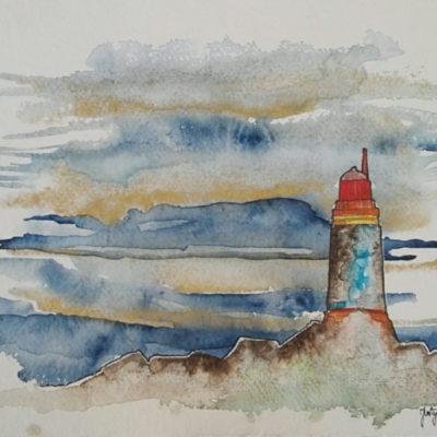 phare en bretagne france aquarelle 7