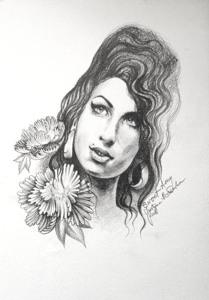 portrait Amy Winehouse