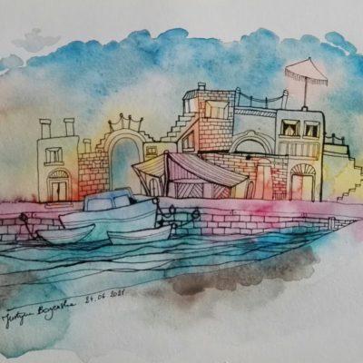 aquarelle maritime