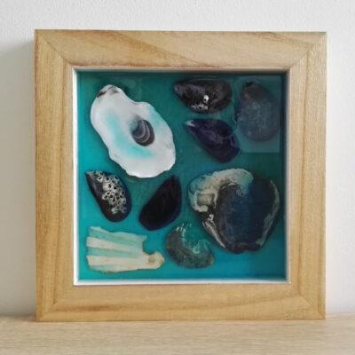 petit tableau coquillages dans la resine (6)